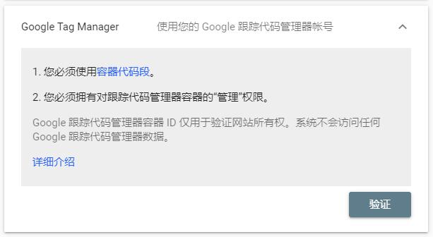Google Tag Manager验证