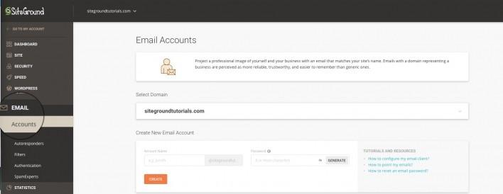 SiteGround免费设置企业邮箱「提升企业形象」