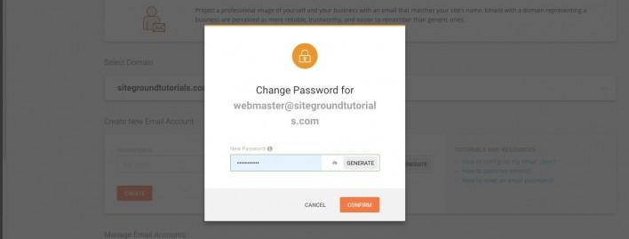 删除修改SiteGround设置的企业电子邮箱