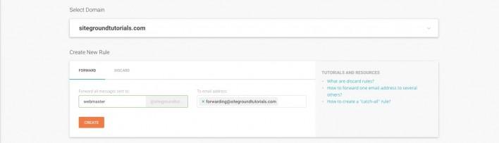 SiteGround电子邮件转发别名及自动回复教程
