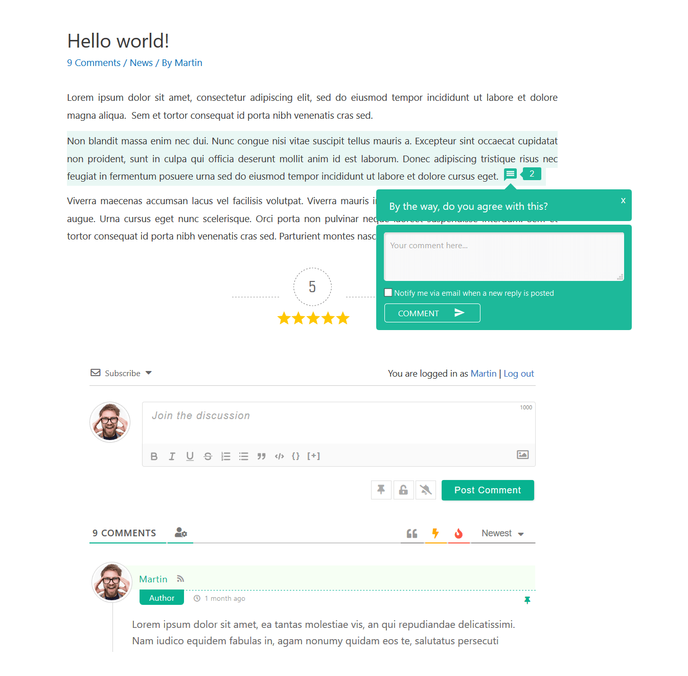 wpDiscuz评论视图|  截图3
