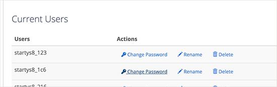 修改数据库用户密码