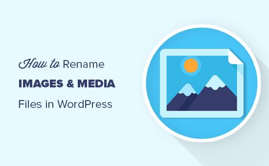 在WordPress中重命名图片名和文件名