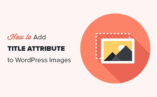 将标题属性添加到WordPress中的图像